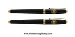 Great Seal of the United States black lacquer 2- piece roller ball Pens, from Presidential Pen collection from trademarked, Official White House Gift Shop since 1946, started by the United States Secret Service, honoring President Trump and all President
