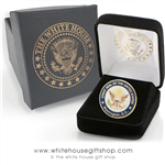 Quality Presidential Pins, Great Seal Lapel Hat Pin, Custom Official White House Gift Shop Boxes