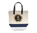 Great Seal of the President of the United States Canvas Tote Shopping Bag, Made and Embroidered in America