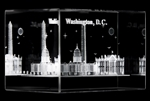 White House Glass Paperweight