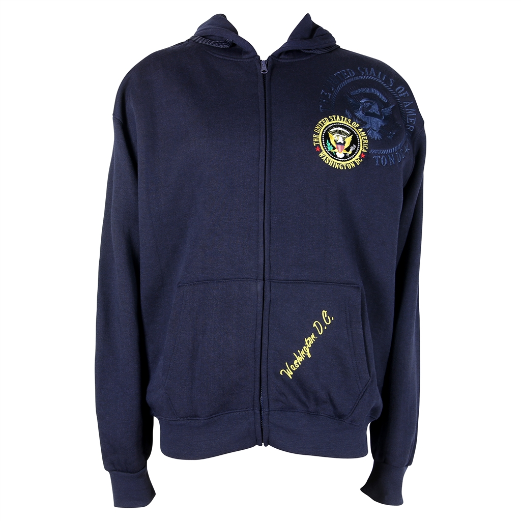 20b57c2e23b3 Presidential Seal zippered hoodie jacket