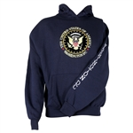 Presidential Washington D.C. Seal Pullover Hoodie, Thick 100% Machine Wash and Dry Poly Hoody, Front Pocket Warmers