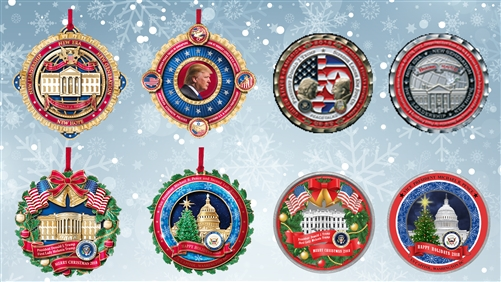 The Complete White House Ornament Collection Set for 2018 from the White House Gift Shop, Merry Christmas from the White House, Share Christmas with the Families of President Donald J. Trump and Vice President Michael, Mike, Pence, Historical Association