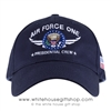 Air Force One Presidential Crew Hat, Cap, Made in the USA, Navy Cotton, USAF, Embroidered Chevrons, American Flag on side