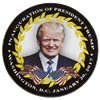 President Donald J. Trump and Vice President Pence Inauguration Official Button with Ribbon from the White House Gift Shop
