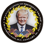 "President Elect Donald J. Trump 45th President Inauguration Day 3"" Buttom"