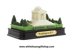 "Jefferson Memorial Model, Brass Plaque, 5 1/2"", Polished Base,Select Package Type"