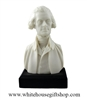 "Thomas Jefferson Bust, 3rd U.S. President of the United States, 6""x 3.5'', White House Gift Shop Official Gold Seal on Box and Base of Statue, Molded Composite, High Detail"