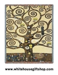 "Gustav Klimt ""Tree of Life"" Tapestry Blanket Throw, 100% Cotton, Machine Wash-Dry, SALE"