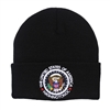 Black USA Knit Beanie Hat Cap, Presidential Seal, Washington D.C