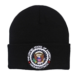 Knit Beanie Hat with Seal of the President