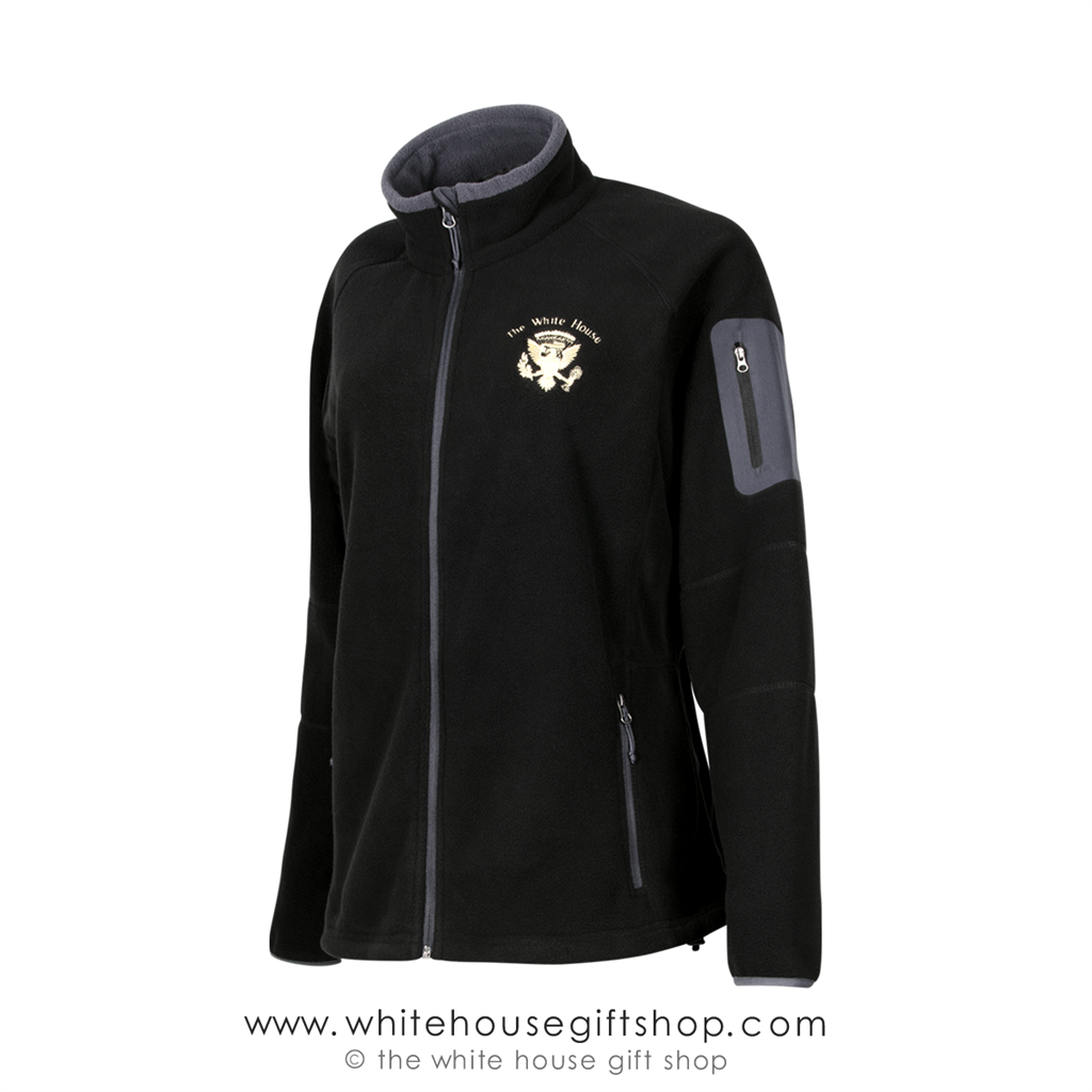 The White House Presidential Fleece Jacket is Midnight Black with ... ad8176c60