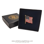 American Flag Pin, Made in the USA, Broach Clasp, Official design of 45th President of the United States flag pins