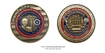 LITTLE ROCK NINE, LIMITED TO 1000 COINS, edge numbered, certificate of  Authenticity  from The Official White House Gift Shop. honors veterans in WWII, Normandy Beaches, June 6, 1944.
