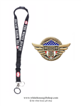 Nurses Heroes of COVID-19, Gold Pin for Lanyard, Uniform, or Lapel. Designed by graphic artist Anthony F. Giannini for the original Secret Service White House Gift Shop.