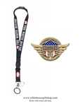 Doctors, Physicians, Heroes of COVID-19, Gold Pin for Lanyard, Uniform, or Lapel. Designed by graphic artist Anthony F. Giannini for the original Secret Service White House Gift Shop.