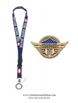 Doctors Heroes of COVID-19, Gold Pin for Lanyard, Uniform, or Lapel. Designed by artist Anthony Giannini for the original Secret Service White House Gift Shop.