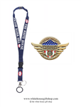 First Responders Heroes of COVID-19, Gold Pin for Lanyard, Uniform, or Lapel