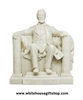 Lincoln Memorial Statue, Acrylic, 16th U.S. President of the United States,White,  6.5 inches, from Official White House Gift Shop, Est. 1946 ,No Frills Box