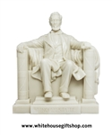 Lincoln Memorial Statue, White Acrylic, 16th U.S. President of the United States,White,  6.5 inches, from Official White House Gift Shop, Est. 1946 ,No Frills Box