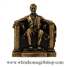 "Lincoln Memorial Statue, 16th U.S.President of the United States, 6.5"", Molded Acrylic with Bronze Patina, Select Package Type"