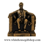 "Lincoln Memorial Statue, Acrylic, 16th U.S.President of the United States, 6.5"", Bronze Patina, No Frills Box"