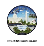 Magnet, Ceramic, White House, Lincoln Memorial, Washington Monument, Jefferson Memorial, U.S. Capitol, Washington D.C.,SALE