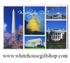 Washington D.C. Magnet with Washington Monument, Capitol Dome, Jefferson Memorial, Lincoln Memorial