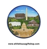 Magnet, Ceramic, White House, Lincoln Memorial, Washington DC Monument, Jefferson Memorial, U.S. Capitol, Sale