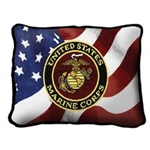 United States Navy Small Rectangle Pillow, Made in America, on American Flag, 12 by 8 inches, red, navy, blues, gold, Made in the USA, Military Veteran Gift