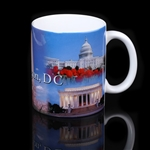 Washington D.C. Monuments & Cherry Blossoms Mug, Close Out Sale