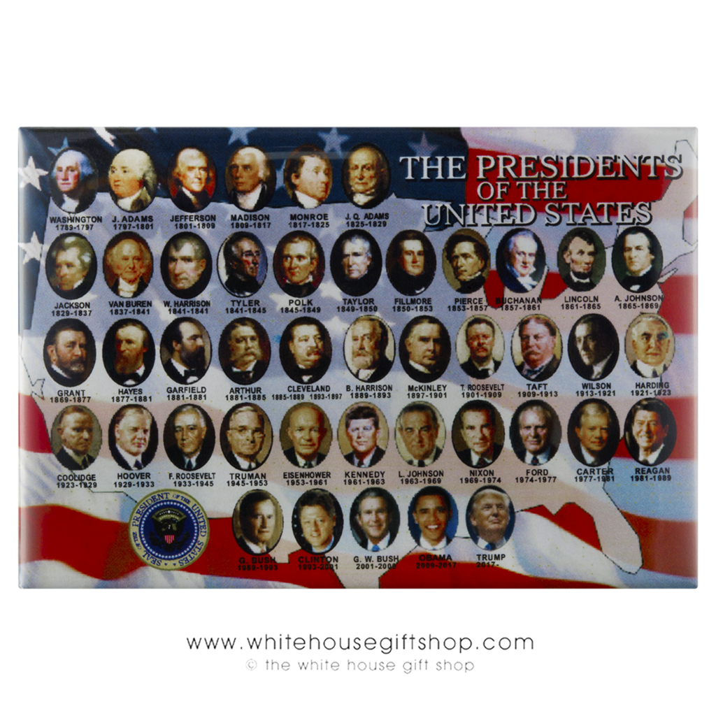 All presidents of the united states magnet for Presidents and their home states