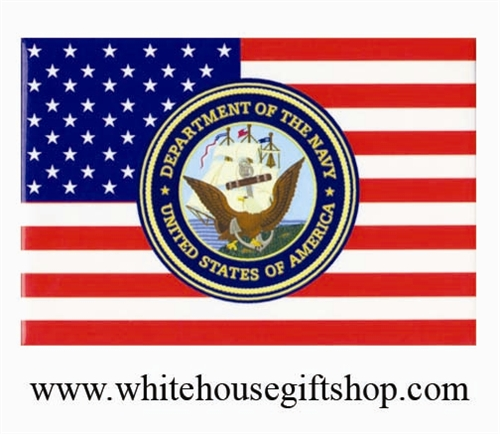 Magnets, Department of the Navy Magnet and Flag, Close Out Sale