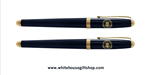 White House Seal, premium Navy Blue lacquer 2- piece roller ball Pens, from Presidential Pen collection from trademarked, Official White House Gift Shop since 1946, started by the United States Secret Service, honoring President Trump and all Presidents