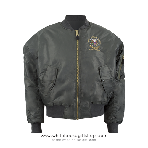 National Security Council Situation Room Flight Jacket, OD Green
