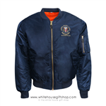 National Security Council Situation Room Bomber Flight Jacket, Navy Blue
