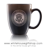 National Security Council Presidential Extra Large 26 Ounce large Bistro Mug, etched in America, United States Eagle, quality mugs from official White House Gift Shop.