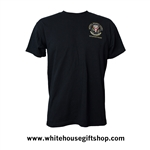 NSC National Security Council, White House Seal,  Situation Room,  USA Made in America, Embroidered, all cotton t-shirt, black