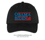 Barack Obama and Joseph R. Biden 2008 Hat in Black, 44th President of the United States, 46th President of the United States, Official White House Gift Shop Est. 1946 by Secret Service Agents