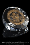 Presidential Glass Paperweight , Great Seal