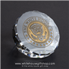 White House Crystal Etched President's Desk Paperweight