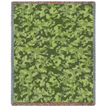 Military CAMO blanket throw, desert camouflage, Made in USA, Luxury soft 100% cotton, machine wash and dry, veteran or military gift