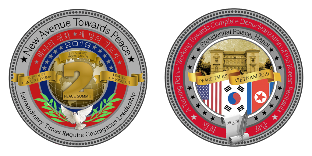 The White House Presidential Seal Gold Coin USA America United States Veterans