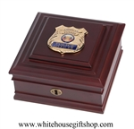 Police Force, First Responder, Law Enforcement Officers, Fraternal Order of Policemen, Chief of Police, Made in USA of America, Keepsake case box, from Official White House Gift Shop, Washington D.C.gifts.