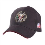 Seal of the President Hat, Embroidered, Black with Red Brim Accent, POTUS