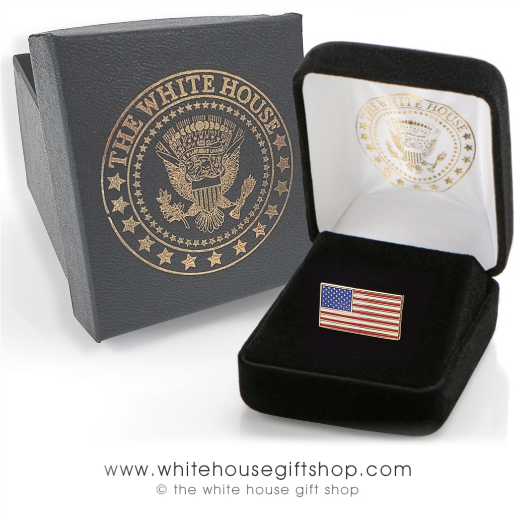 Rectangle American Flag Pins, quality jewelry grade flag pin, 3/4 inch by  3/8 inch, smart, worn by Presidents, premium clutch, custom White House  Gift