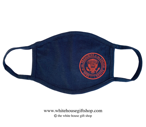 COVID-19 Global Response Face Mask Navy Blue with Gold Seal of the President of the United States