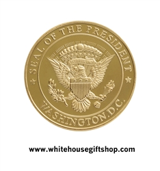 "COINS, PRESIDENTIAL SEAL, THE WHITE HOUSE ON REVERSE, 1.5"" Diameter Coin, Premium Copper Allow Core and Upgraded Protective Capsule"