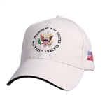 Seal of the President Hat, Embroidered, Tan, Khaki with Blue Brim Accent, POTUS