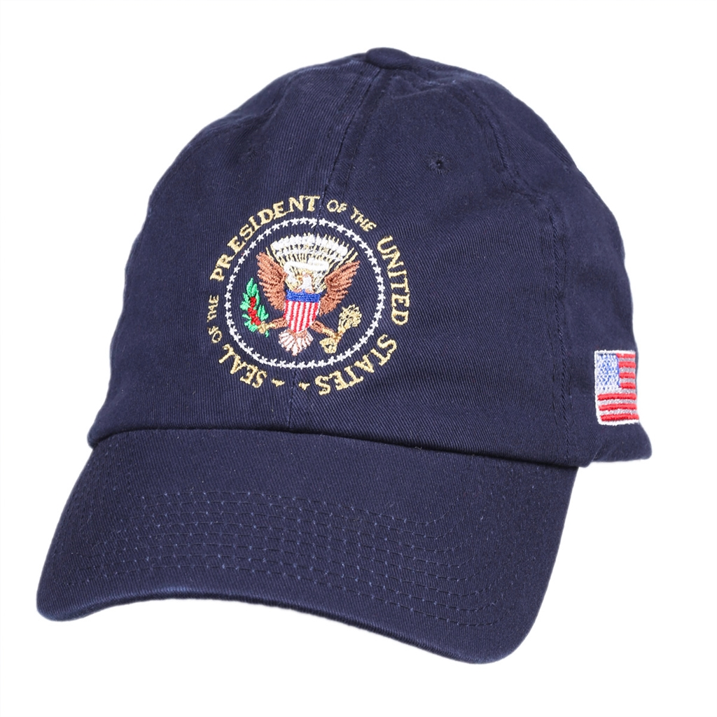 de3c1861d20 Embroidered Presidential Seal Blue Embroidered Hat